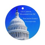 US Capitol Personalized Christmas Tree Ornament