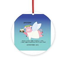 Piggy Figgy Pudding Christmas Ornament