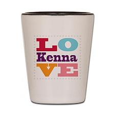 I Love Kenna Shot Glass