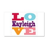 I Love Kayleigh Car Magnet 20 x 12