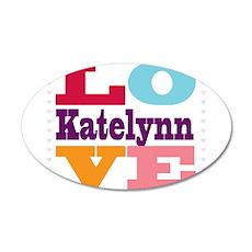 I Love Katelynn 20x12 Oval Wall Decal