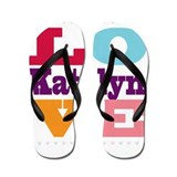 I Love Katelyn Flip Flops