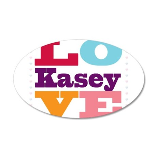 I Love Kasey 20x12 Oval Wall Decal