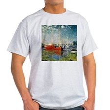 Red Boats at Argenteuil by Monet T-Shirt