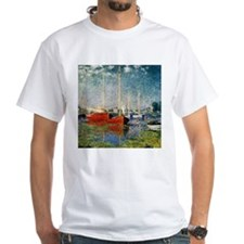 Red Boats at Argenteuil by Monet Shirt
