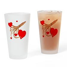 Valentine Squid Drinking Glass