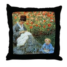 Camille with Child Throw Pillow