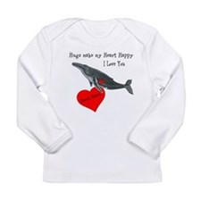 Personalized Whale Long Sleeve Infant T-Shirt