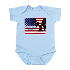 All American Pride, Boston Terrier Infant Bodysuit