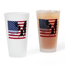 All American Pride, Boston Terrier Drinking Glass