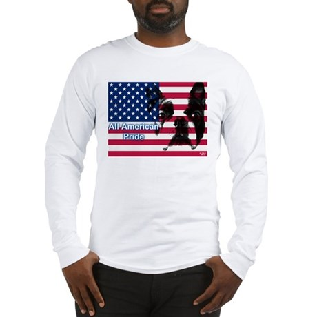All American Pride, Boston Terrier Long Sleeve T-S