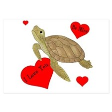 Personalized Turtle 3.5 x 5 Flat Cards