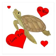 Personalized Turtle 5.25 x 5.25 Flat Cards
