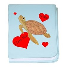 Personalized Turtle baby blanket