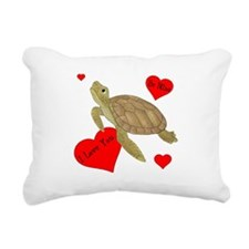 Personalized Turtle Rectangular Canvas Pillow