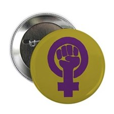 "Purple feminist symbol 2.25"" Button (100 pack)"