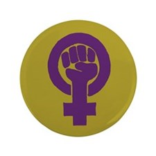 "Purple feminist symbol 3.5"" Button"