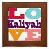 I Love Kaliyah Framed Tile