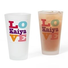 I Love Kaiya Drinking Glass