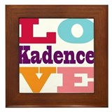 I Love Kadence Framed Tile