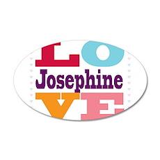 I Love Josephine 20x12 Oval Wall Decal