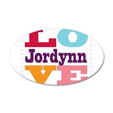 I Love Jordynn 35x21 Oval Wall Decal