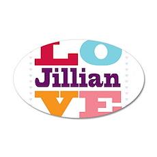 I Love Jillian 20x12 Oval Wall Decal