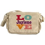 I Love Jaylene Messenger Bag