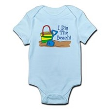 I Dig The Beach Infant Bodysuit