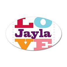 I Love Jayla 35x21 Oval Wall Decal