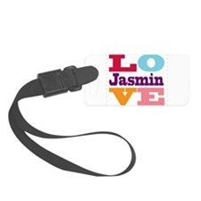 I Love Jasmin Luggage Tag
