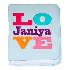 I Love Janiya baby blanket