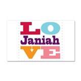 I Love Janiah Car Magnet 20 x 12
