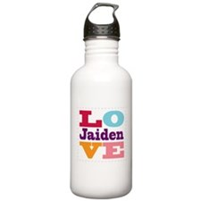 I Love Jaiden Water Bottle