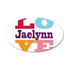 I Love Jaelynn 20x12 Oval Wall Decal