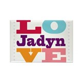 I Love Jadyn Rectangle Magnet