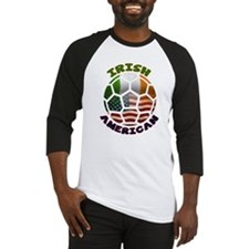 Irish American Soccer Fan Baseball Jersey