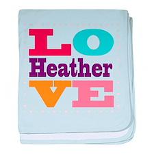 I Love Heather baby blanket