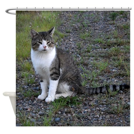 Purr-fectly Posed Shower Curtain