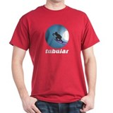 Tubular Retro Surf Design Dark Red T-Shirt