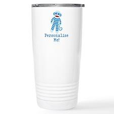 Baby Blue Sock Monkey Travel Coffee Mug