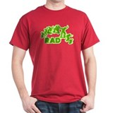 Rad Old School Sk8 Design Dark Red T-Shirt