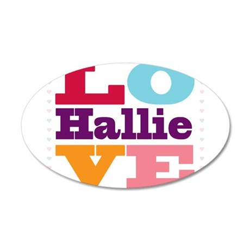 I Love Hallie 35x21 Oval Wall Decal