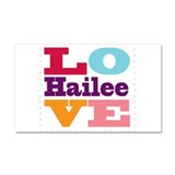 I Love Hailee Car Magnet 20 x 12