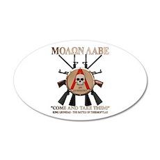 Molon Labe - Spartan Shield 35x21 Oval Wall Decal
