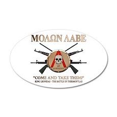 Molon Labe - Spartan Shield 20x12 Oval Wall Decal