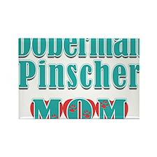 Doberman Pinscher Mom Hearts Rectangle Magnet