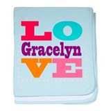 I Love Gracelyn baby blanket