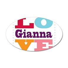 I Love Gianna 20x12 Oval Wall Decal