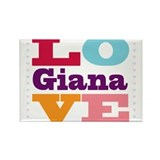 I Love Giana Rectangle Magnet (100 pack)
